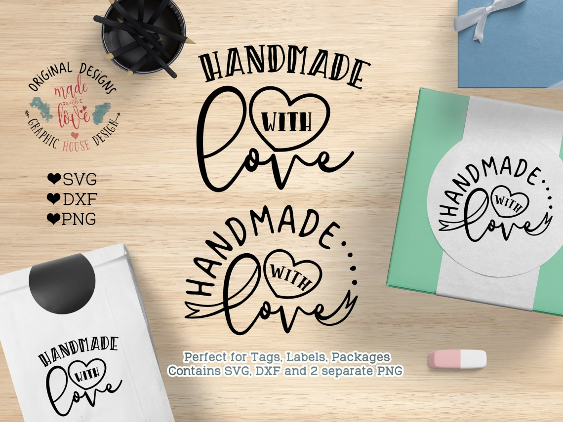 Download Handmade with Love Cut File and Printable (SVG, DXF, PNG ...
