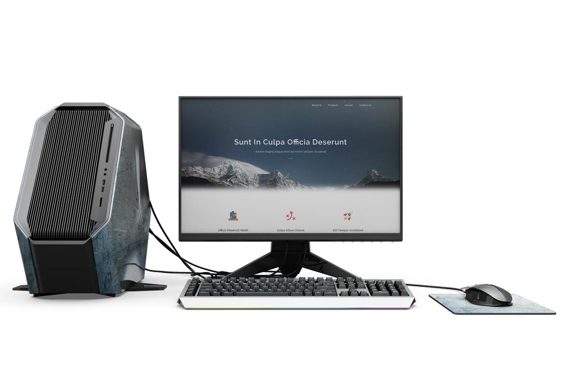 Dell Alienware Set Mockup