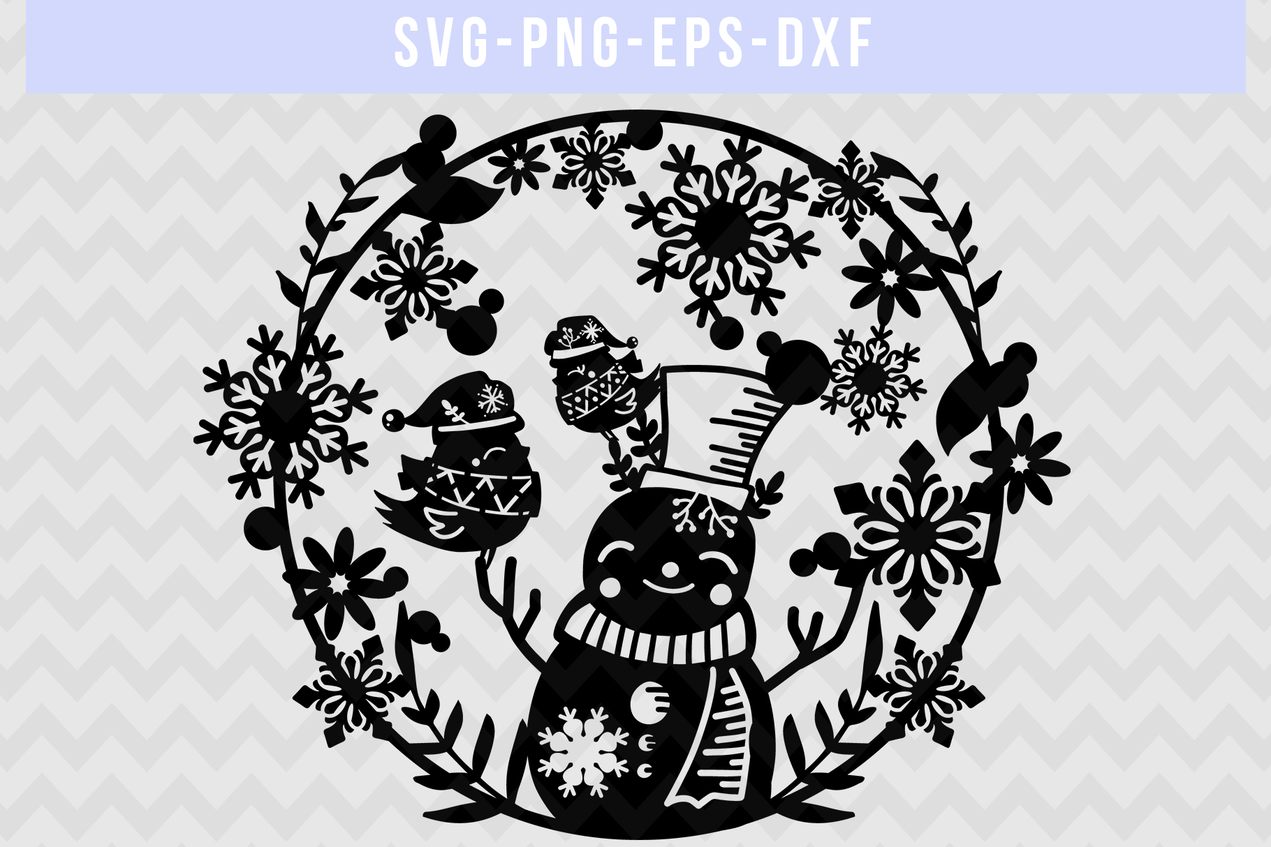 Winter Svg Cut File Snowflake Papercut Snowman Laser Cut
