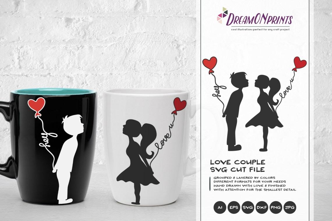 Download Love Couple SVG - Kissing Boy & Girl SVG (200110 ...