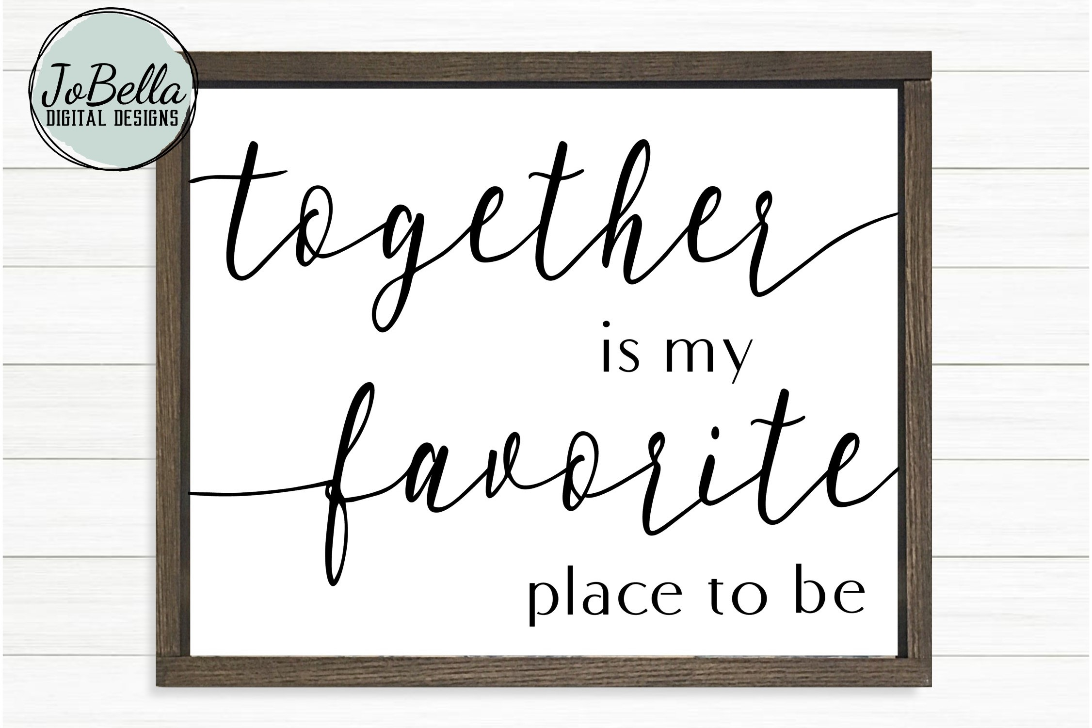 Together Is My Favorite Place To Be Svg And Printable