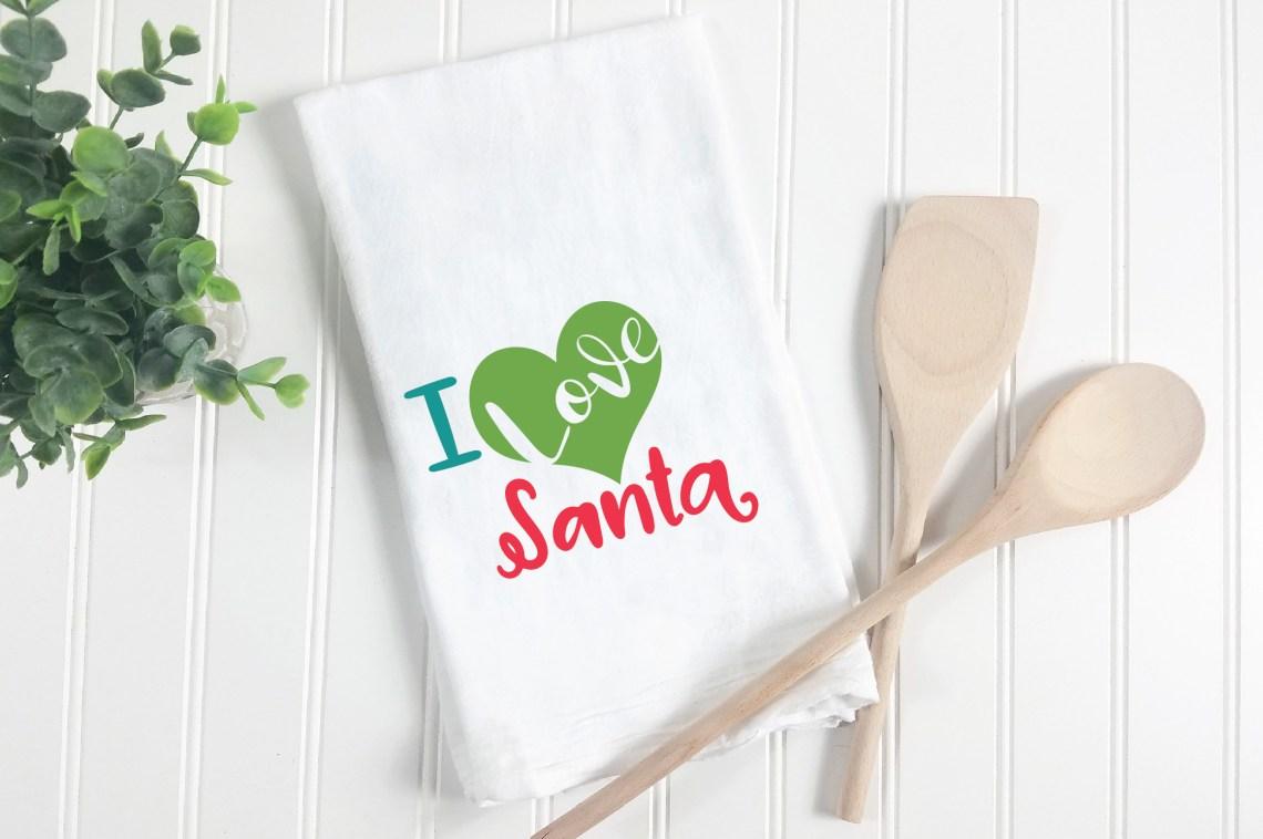 Download I Love Santa - Christmas SVG Cut File - DXF PNG EPS JPG AI ...