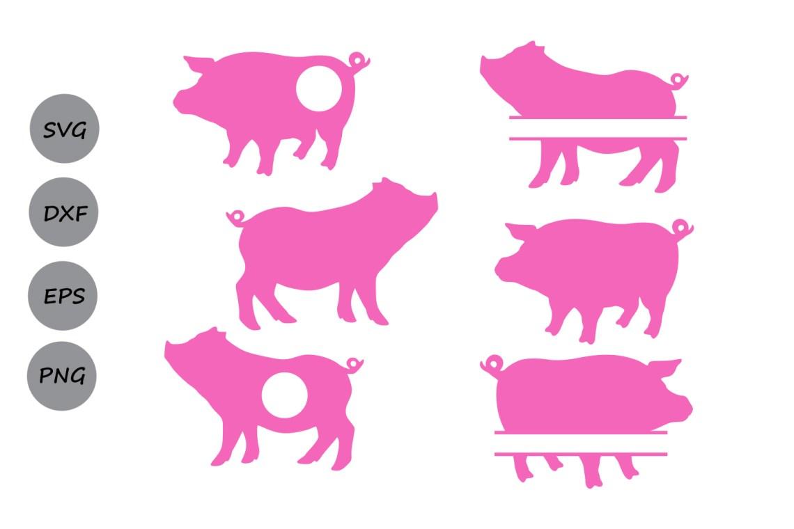 Download Pig SVG cut file, pig monogram svg, silhouette files ...