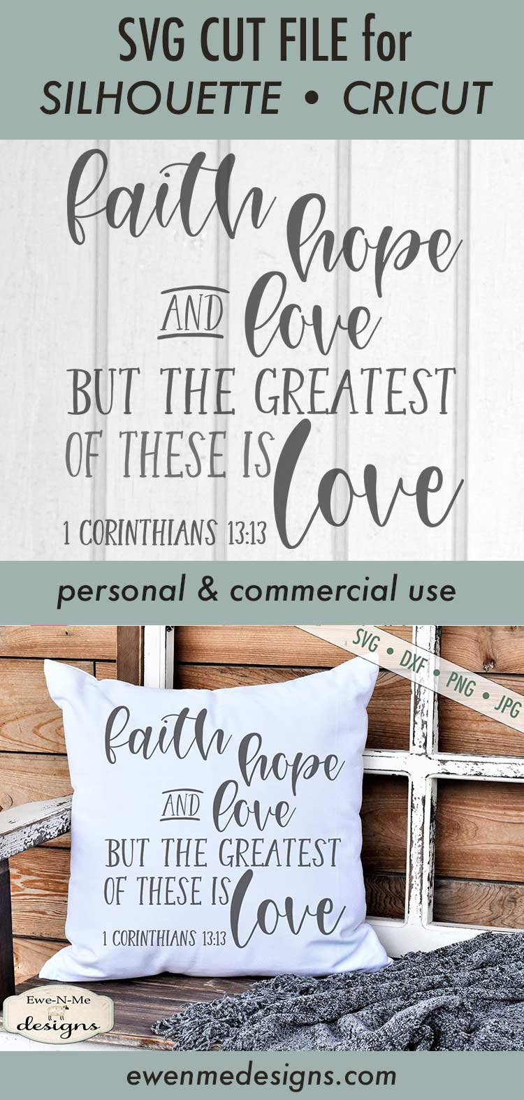 Download Faith Hope Love - Greatest is Love SVG DXF Cut File