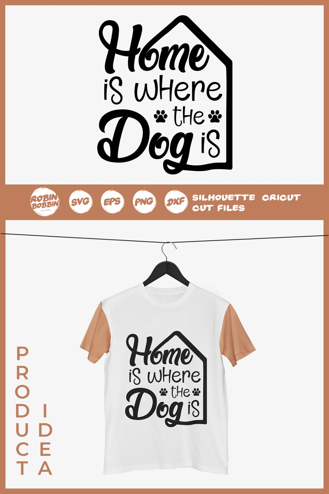 Download Home is Where The Dog Is SVG - Dog Lover SVG File