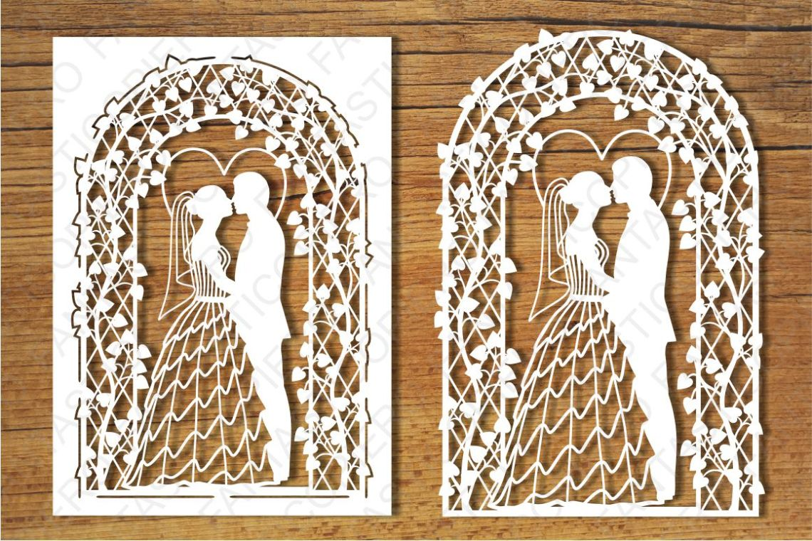 Download Wedding card 2 SVG files for Silhouette Cameo and Cricut ...