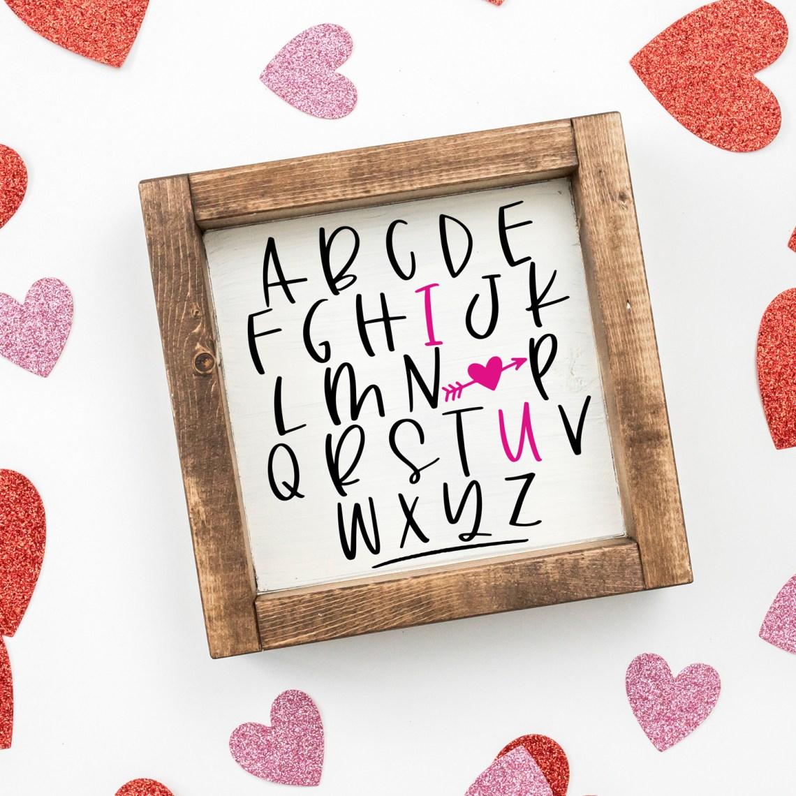 Download ABC I Love You SVG - Valentine's Day SVG, Valentine SVG