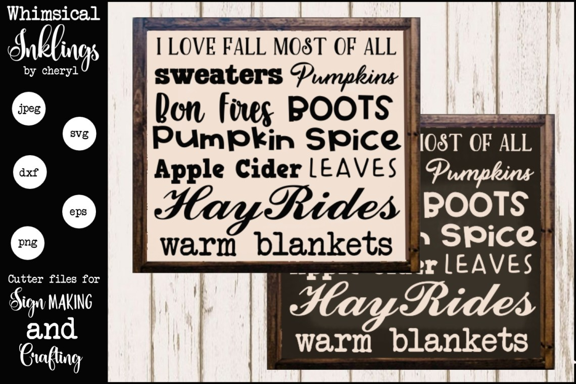 Download I Love Fall Most Of All SVG