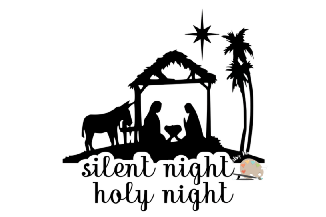 Download Silent Night Holy night svg cut file Christmas nativity ...
