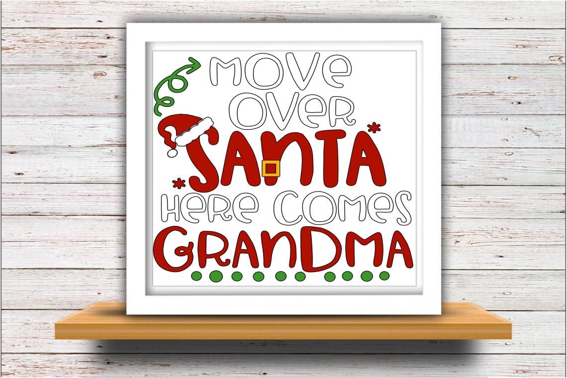 Download Grandma SVG DXF JPEG Silhouette Cameo Cricut Christmas santa