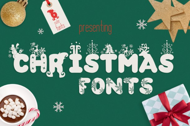 Christmas Fonts Bundle by The Font Bundles Store