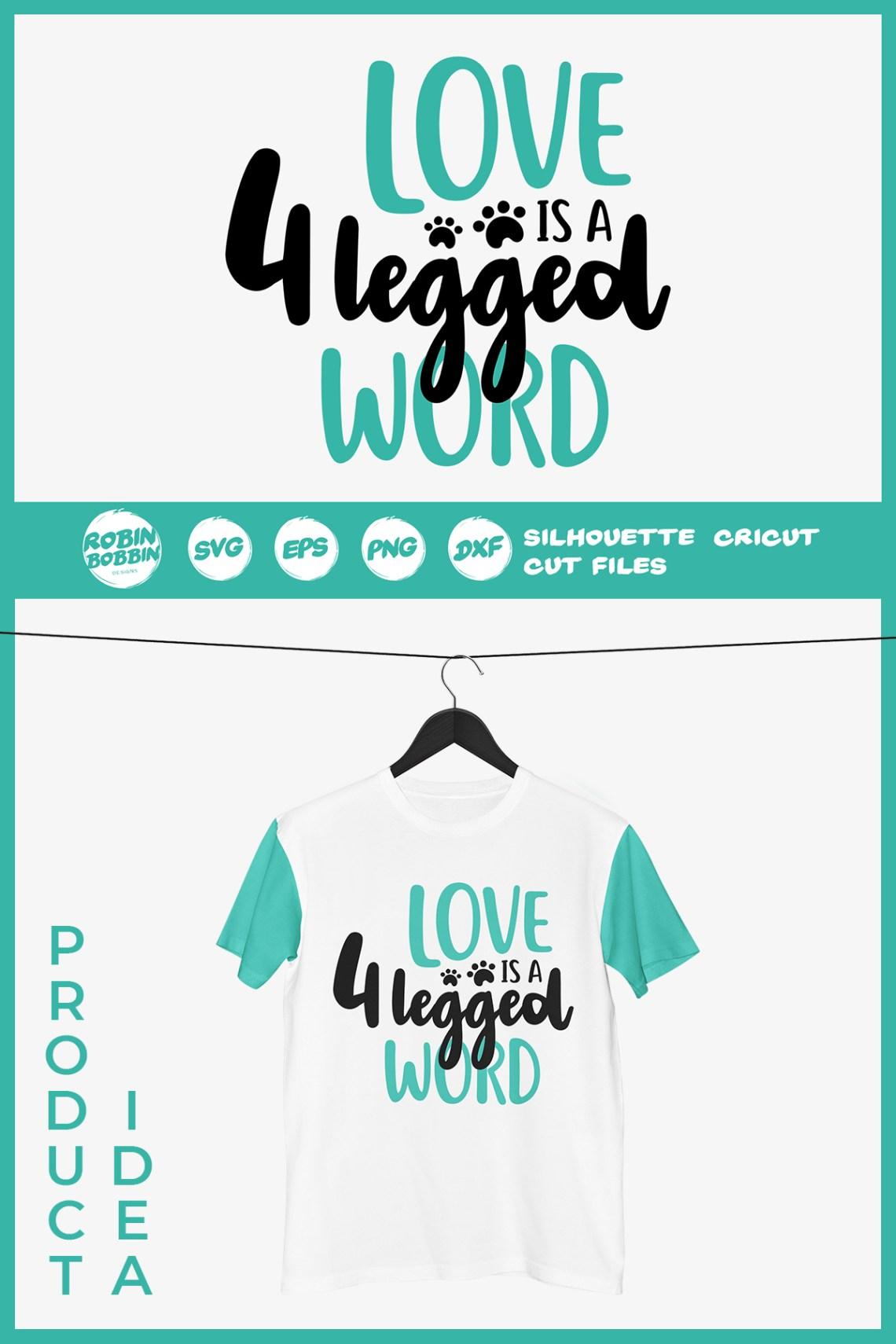 Download Love is A 4 Legged Word SVG - Dog Lover SVG File (292643 ...