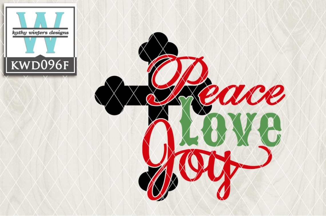 Download Christmas SVG - Peace Love Joy KWD096F (9352) | Cut Files ...