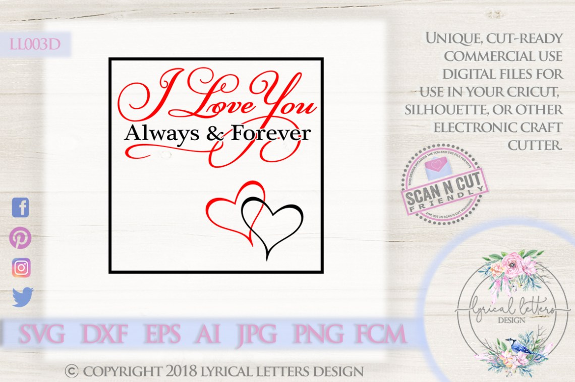 Download I love You Always and Forever Valentine's Day SVG DXF ...
