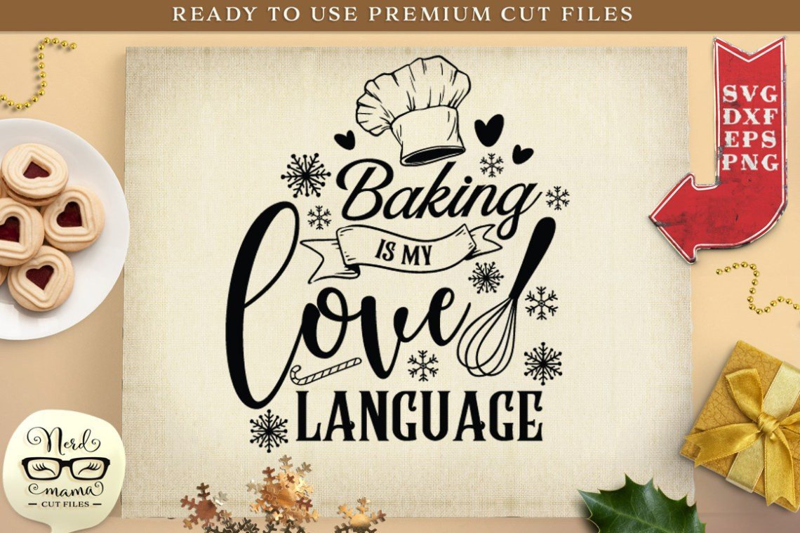 Download Baking is my love language SVG Cut File