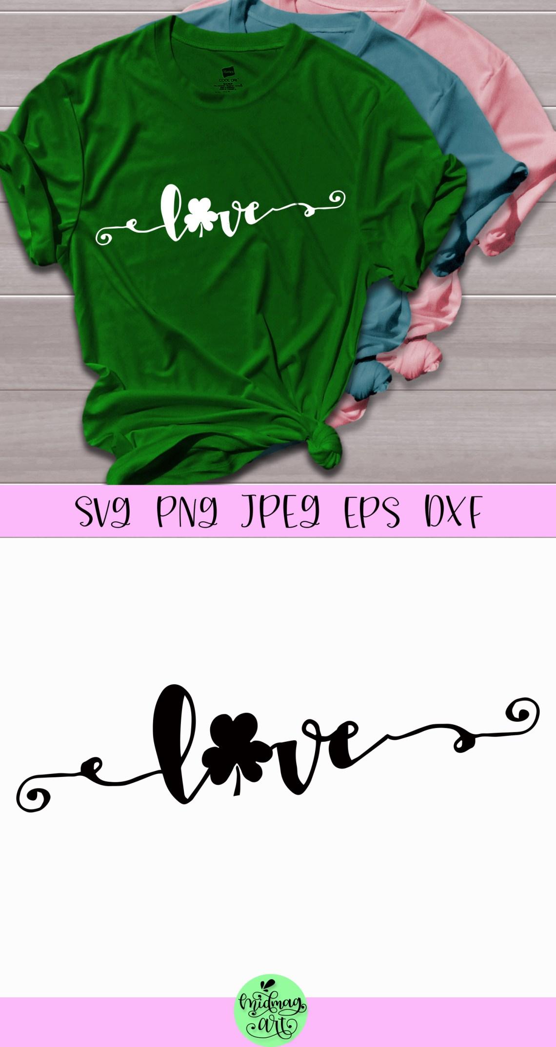 Download Love shamrock svg, love st patricks day svg