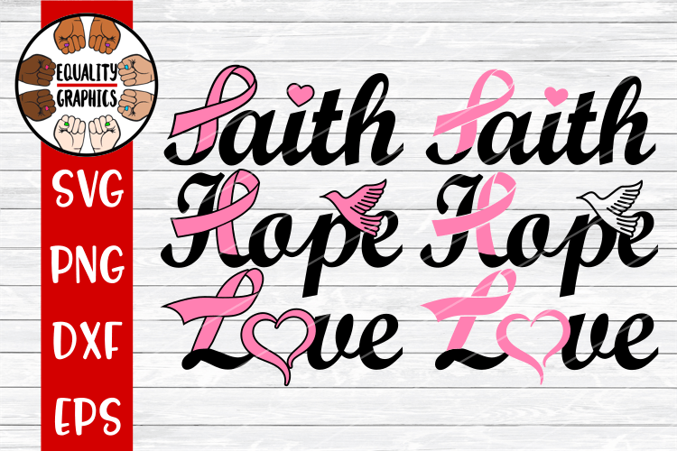 Download Cancer Faith Hope Love SVG   DXF   PNG