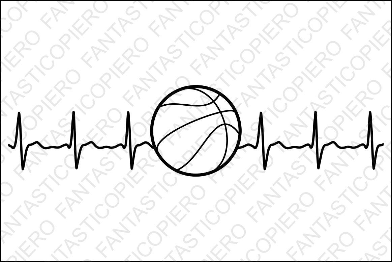 Cardio Basketball Svg Files For Silhouette Cameo And Cricut Cardio Heartbeat Basketball Clipart