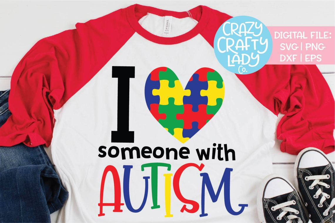 Download I Love Someone with Autism SVG DXF EPS PNG Cut File