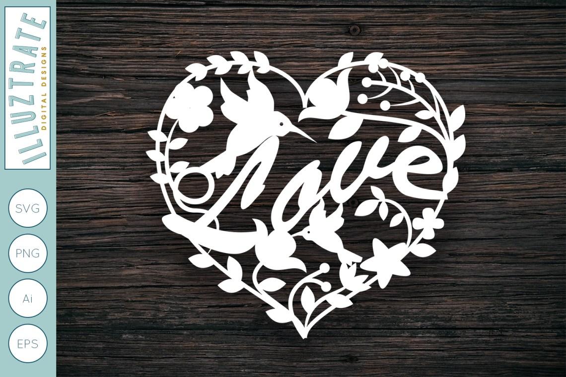 Download Love Heart SVG Cut File | Wedding SVG Design