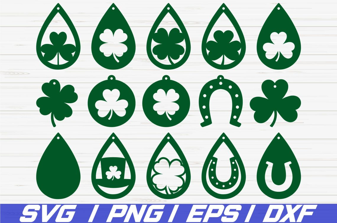 Download St Patrick's Day Earrings SVG/ Cut File/ Cricut/ Laser Cut