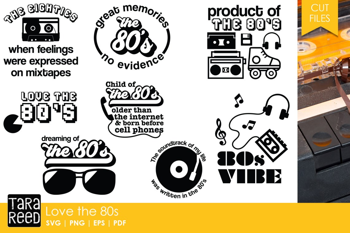 Download Love the 80s - Eighties SVG and Cut Files for Crafters ...