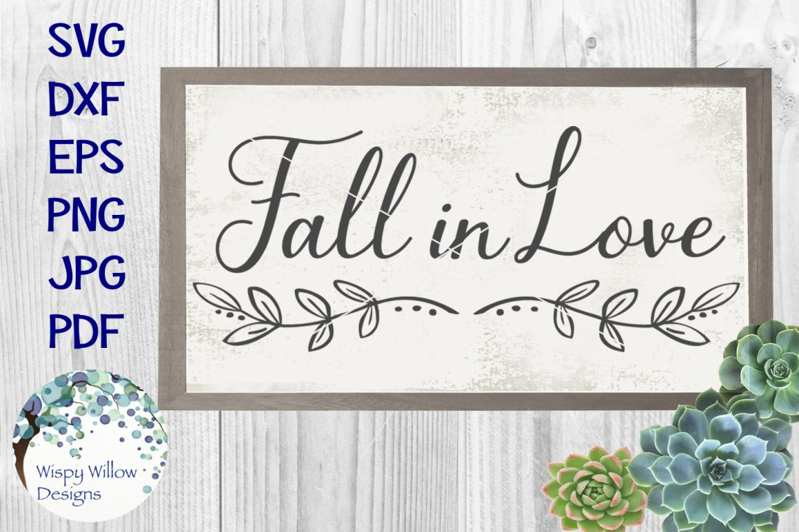 Download Fall in Love | Wedding Sign SVG Cut File (143389) | SVGs ...