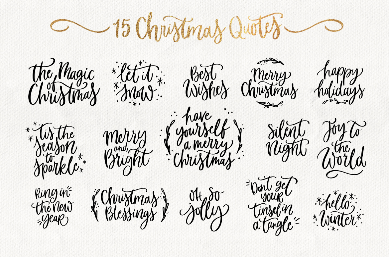 Merry Christmas Svg Bundle Quotes Amp Clipart