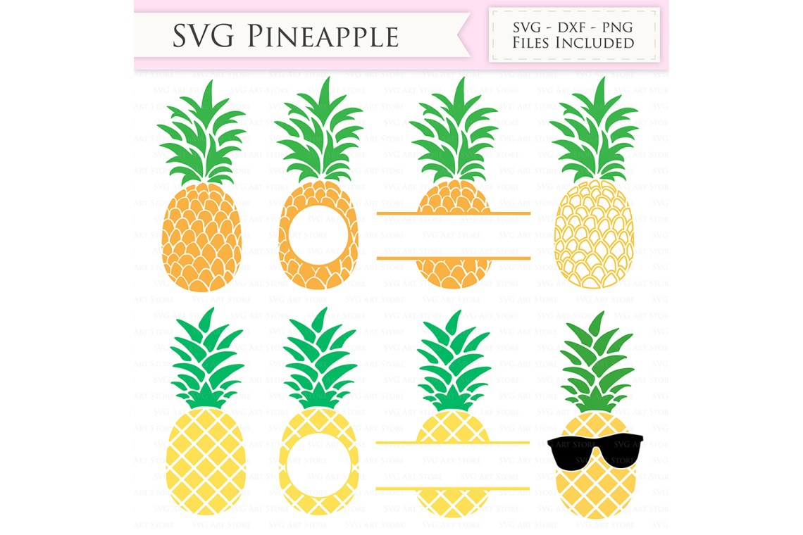 Pineapple SVG Files - Tropical Summer Pineapple monogram ...