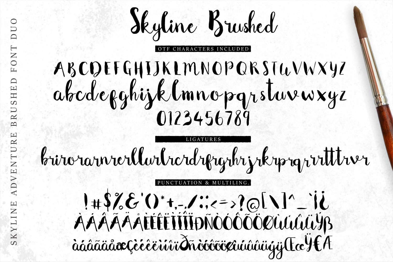 Font Duo Skyline Adventure