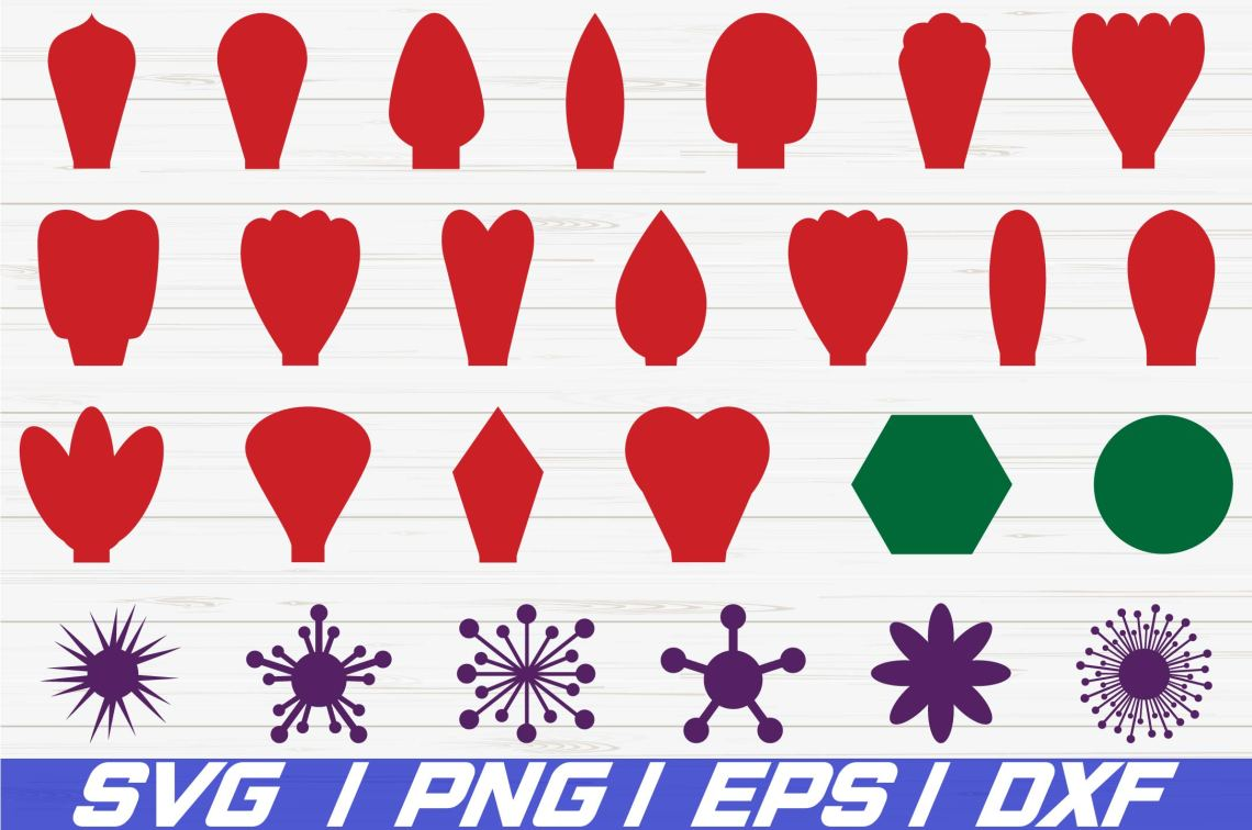 Download Paper Flower Kit / SVG / Petal Templates / Flower Templates