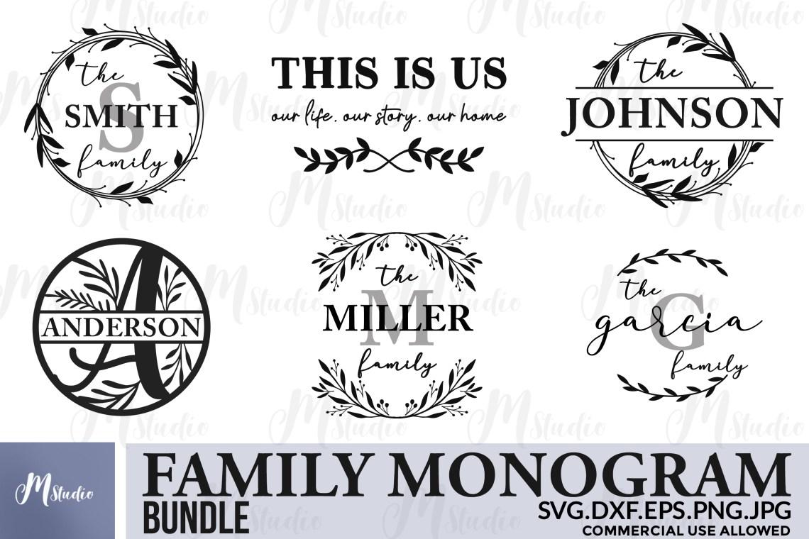 Download Family monogram bundle SVG & Free split monogram letters ...