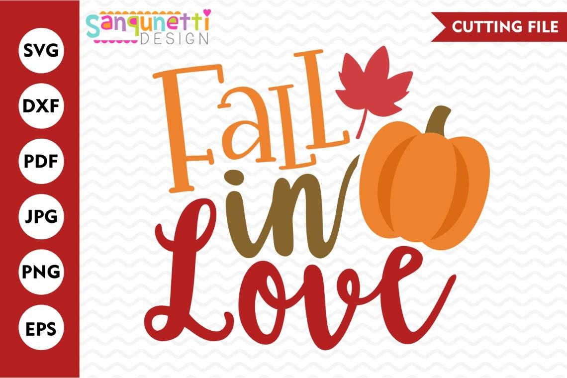 Download Fall in love svg, autumn pumpkin cut file