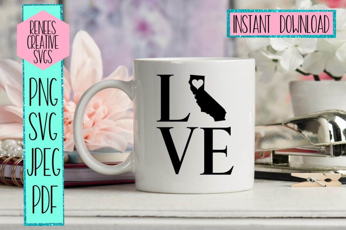 Download California love with heart | State SVG | SVG Cutting file