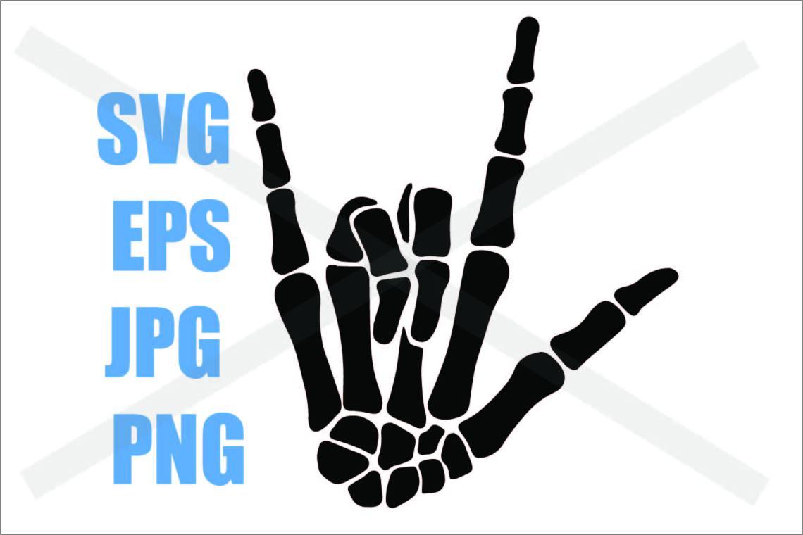 Download Skeleton Hand I love you- SVG-EPS-JPG-PNG