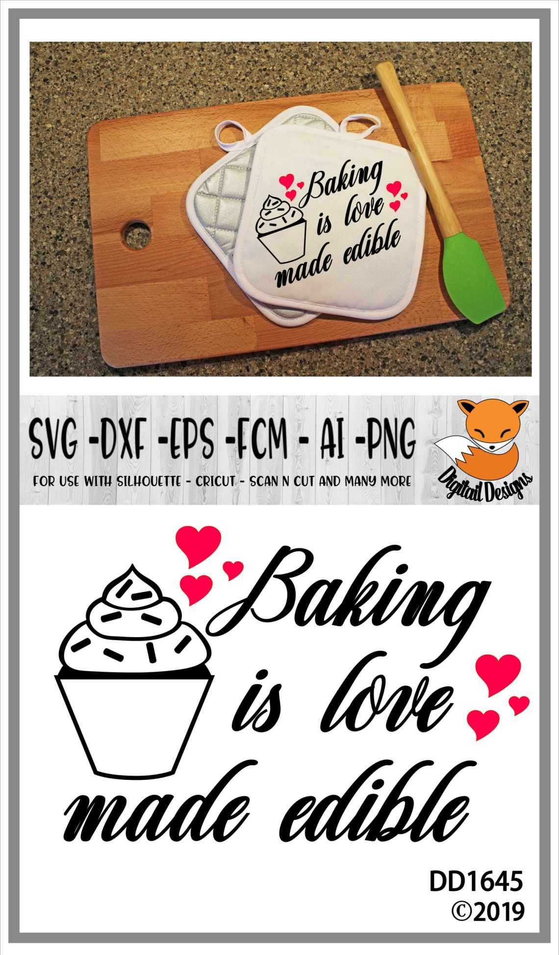 Download Baking Is Love Made Edible Kitchen SVG