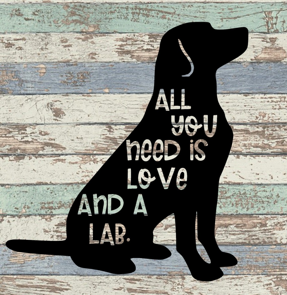 Download All You Need is Love and a Lab SVG
