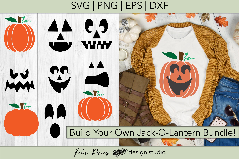 Halloween Build Your Own Jack O Lantern Bundle Cut File Svg