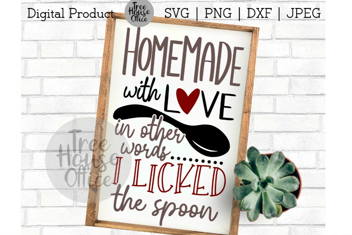 Download Homemade with Love, Licked the Spoon, Baking SVG PNG JPEG