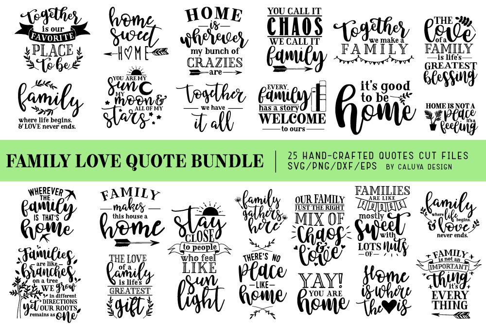 Download Family Love Quote SVG Cut Files Bundle | Design Bundles