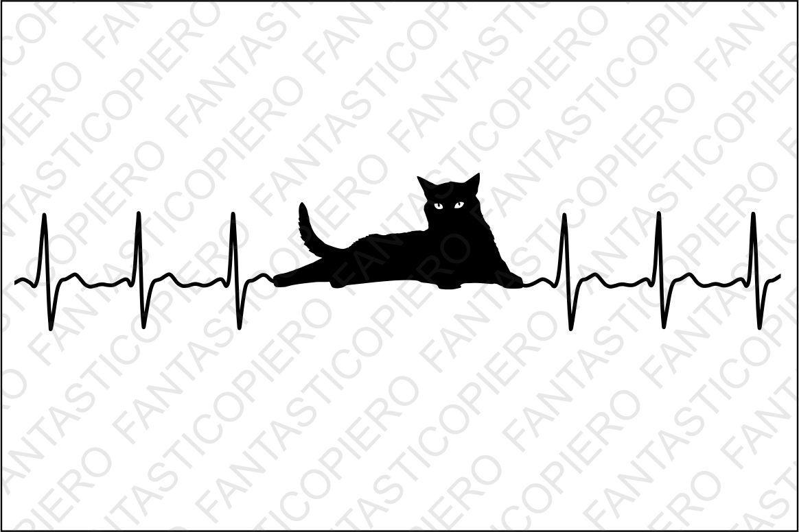 Cardio Cat Svg Files For Silhouette Cameo And Cricut Vet