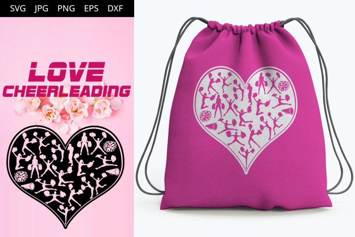 Download Love Cheerleading SVG Vector