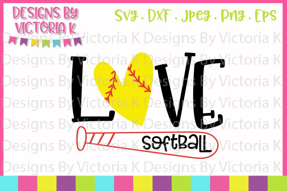 Download Softball svg, Love Softball, SVG, DXF, PNG