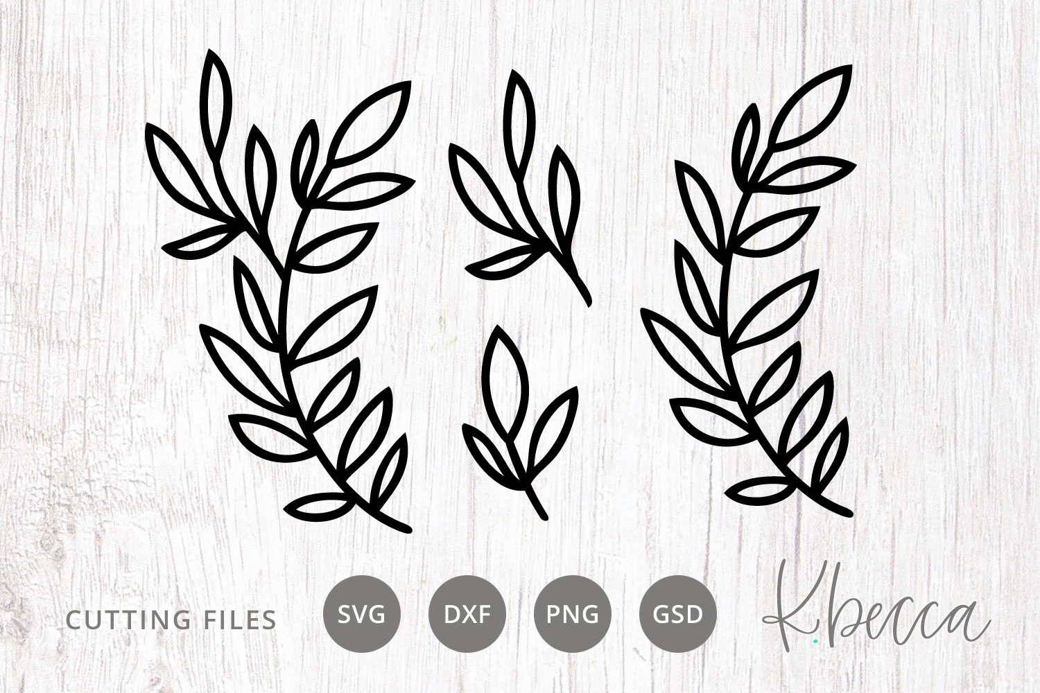 Leafy Branches Svg Cut Files