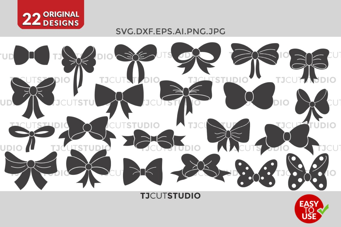 Download Bow svg collection, Files for Silhouette Cameo or Cricut ...
