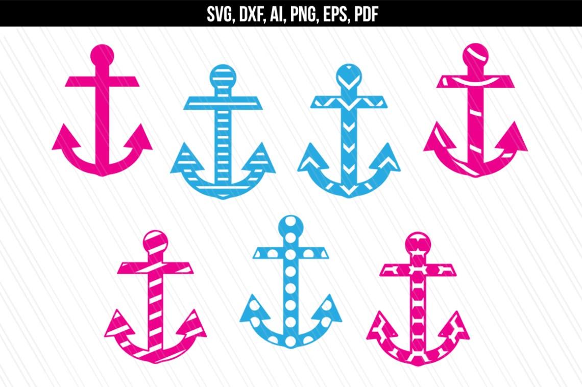 Download Anchor Nautical svg dxf files (82377) | SVGs | Design Bundles