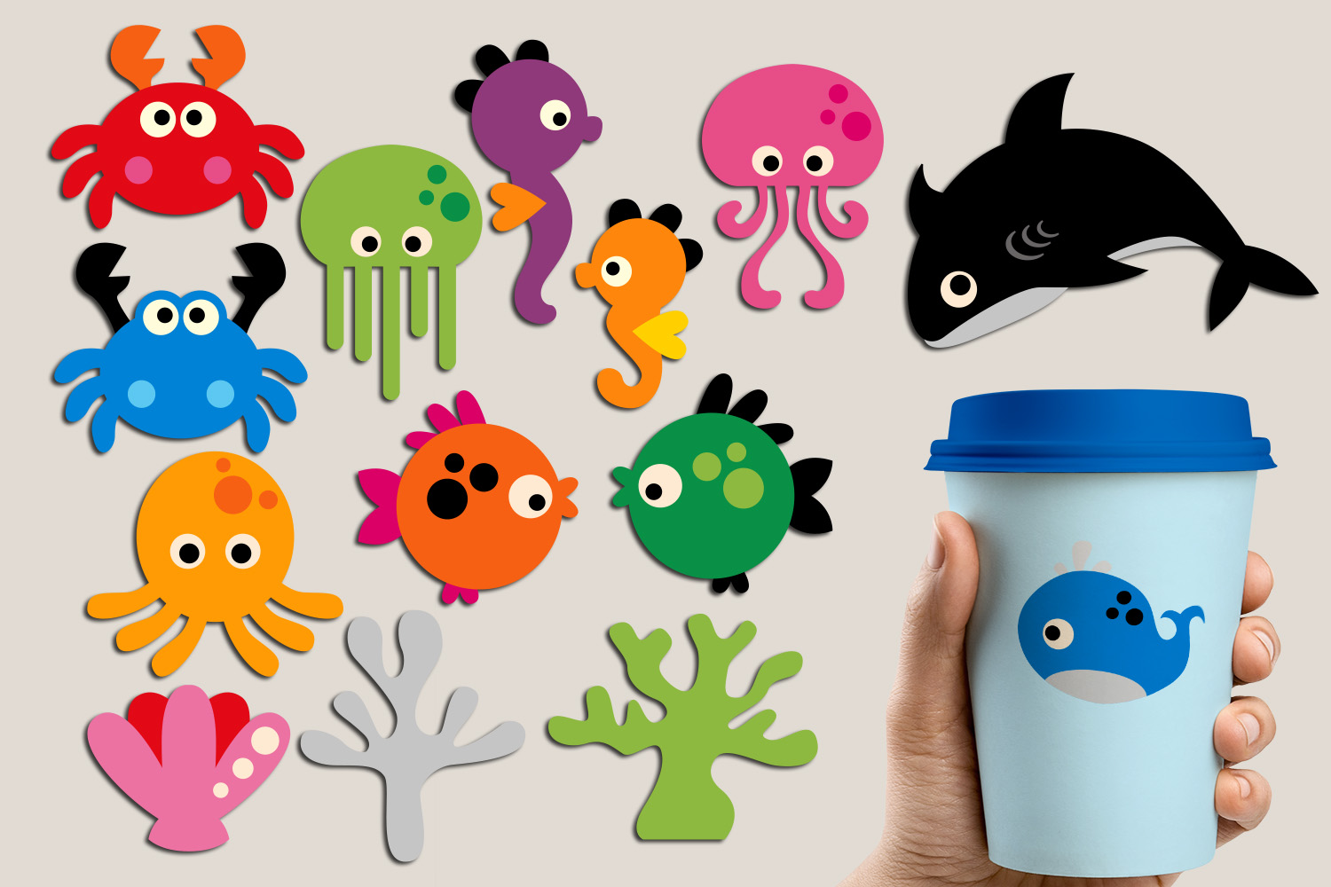 Under The Sea Ocean Sea Animals Graphics And Illustrations