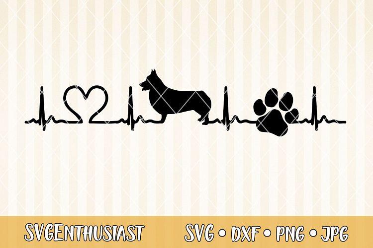 Download Corgi heartbeat SVG cut file (296693) | SVGs | Design Bundles