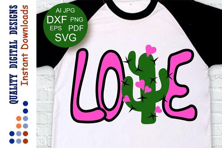 Download Love svg Valentine day decor Cactus clipart (211708 ...