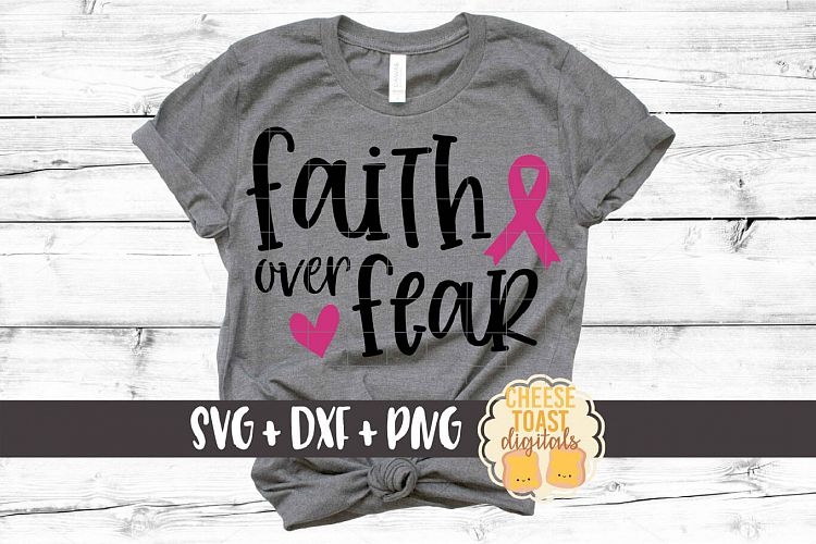 Download Faith Over Fear - Breast Cancer Awareness SVG PNG DXF ...